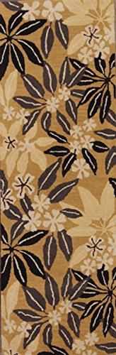 Rug Source One-of-A-Kind New Agra All-Over Floral Hand-Tufted 3x8 Brown Wool Oriental Runner Rug (7' 10