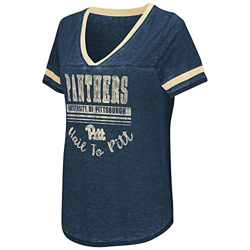 (Colosseum Womens Pittsburgh Panthers Short Sleeve Tee Shirt - M)