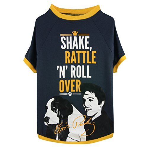 Shake, Rattle & Roll Over Dog T-shirt (Small) by Elvis Presley Pet Collection by Elvis Presley Pet Collection