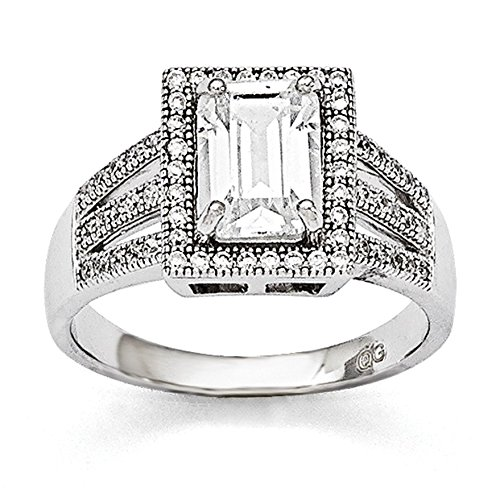 UPC 886774578194, Sterling Silver & CZ Ring Size 8 #1481
