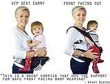 NimNik Baby Sling Carriers Hipseat - Ergonomics Front 2 Back Carrier, Black Bild 5