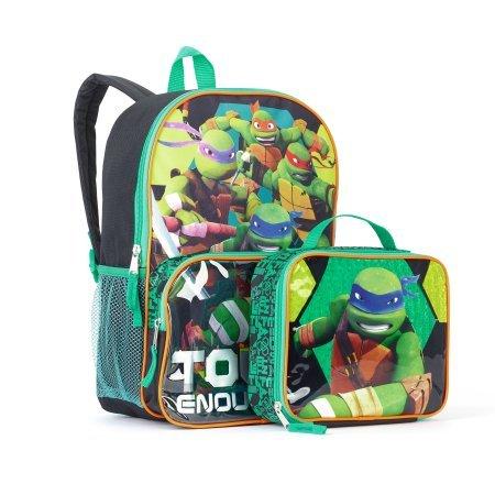 Teenage Muntant Ninja Turtles Tough Turtles Backpack With Lunchbox