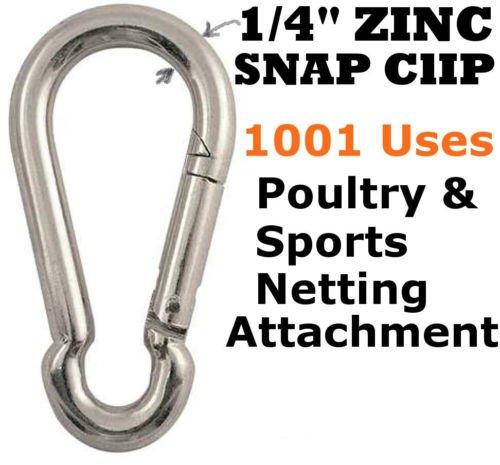 Pulleys & Zinc Carabiner Snap Clips Netting Baseball Batting Cage
