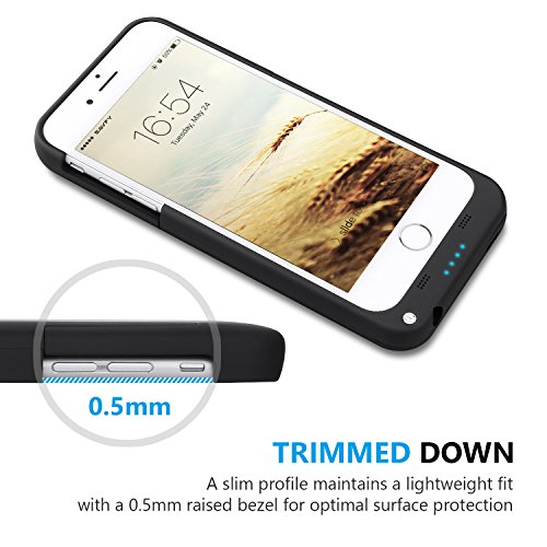 SAVFY iPhone 7 Battery event iPhone 6 6s Charger event 3200mAh iPhone convenient Charger compact Rechargeable Extended Battery Charging Pack energy Bank event with the help of Kickstand for iPhone 7 6S 47 inch Black Batteries