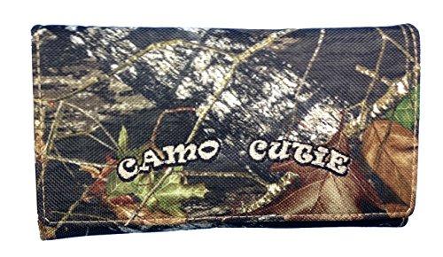 Official Womens Western Wallet with Camo Cutie and Zipper Pocket Mossy Oak Camo Womens Tri Fold Wallet BT-3