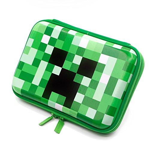 Boy Pencils - Boys Cute School Supply Organizer Cool Pencil Case Box Holder Bag With Zipper For Kids (Green) (SOOCUTE)