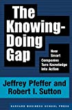 Book cover for The Knowing-Doing Gap: How Smart Companies Turn Knowledge into Action