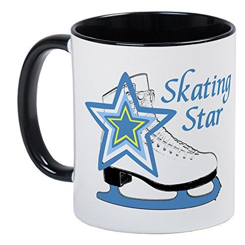 CafePress - Skating Star Ice Skate Mug - Unique Coffee Mug, Coffee Cup