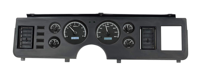 Dakota Digital 79-86 Ford Mustang Analog Dash Gauge Black Alloy White VHX-79F-MUS-K-W