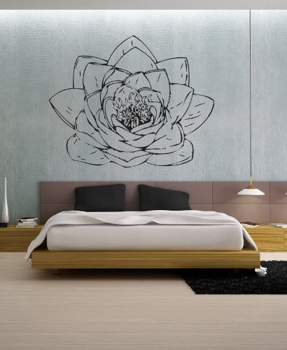 uBer Decals Vinyl Wall Decal Sticker Lotus Blossom 186 27x34 - Class International To Usps Canada First
