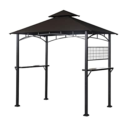 Garden Winds LCM1195B-RS Tile Grill Gazebo Riplock 350 Replacement Canopy, Beige : Garden & Outdoor