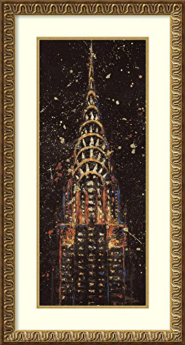 Framed Art Print, 'Cities at Night II' by Wellington Studio: Outer Size 21 x 39