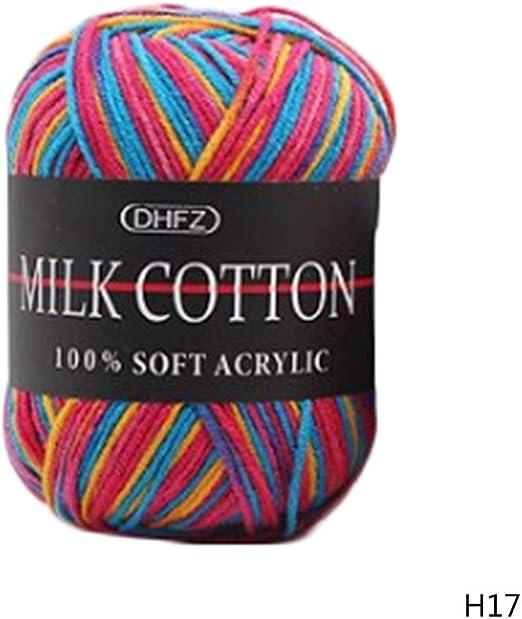 yejifs con Estilo 50g Dk Punto Croché Variado Lote 23 Color Leche ...