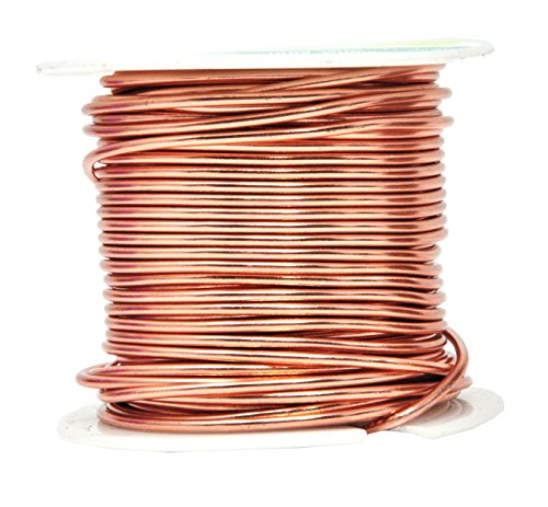 Mandala Crafts Anodized Aluminum Wire for Sculpting, Armature, Jewelry Making, Gem Metal Wrap, Garden, Colored and Soft, 1 Roll(14 Gauge, Copper Tone)