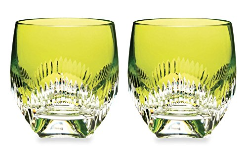 Waterford Mixology Neon Lime Green Tumbler, Pair by Waterford