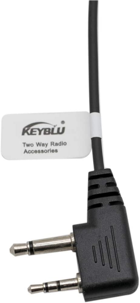 KEYBLU Transparent Acoustic Tube Surveillance Earpiece Headset for Midland walkie Talkie Radio(2 Pack