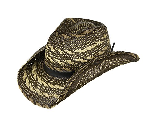 PETER GRIMM NUNA FANCY BARBED WIRE WEAVE WIDE BAND WESTERN DRIFTER HAT