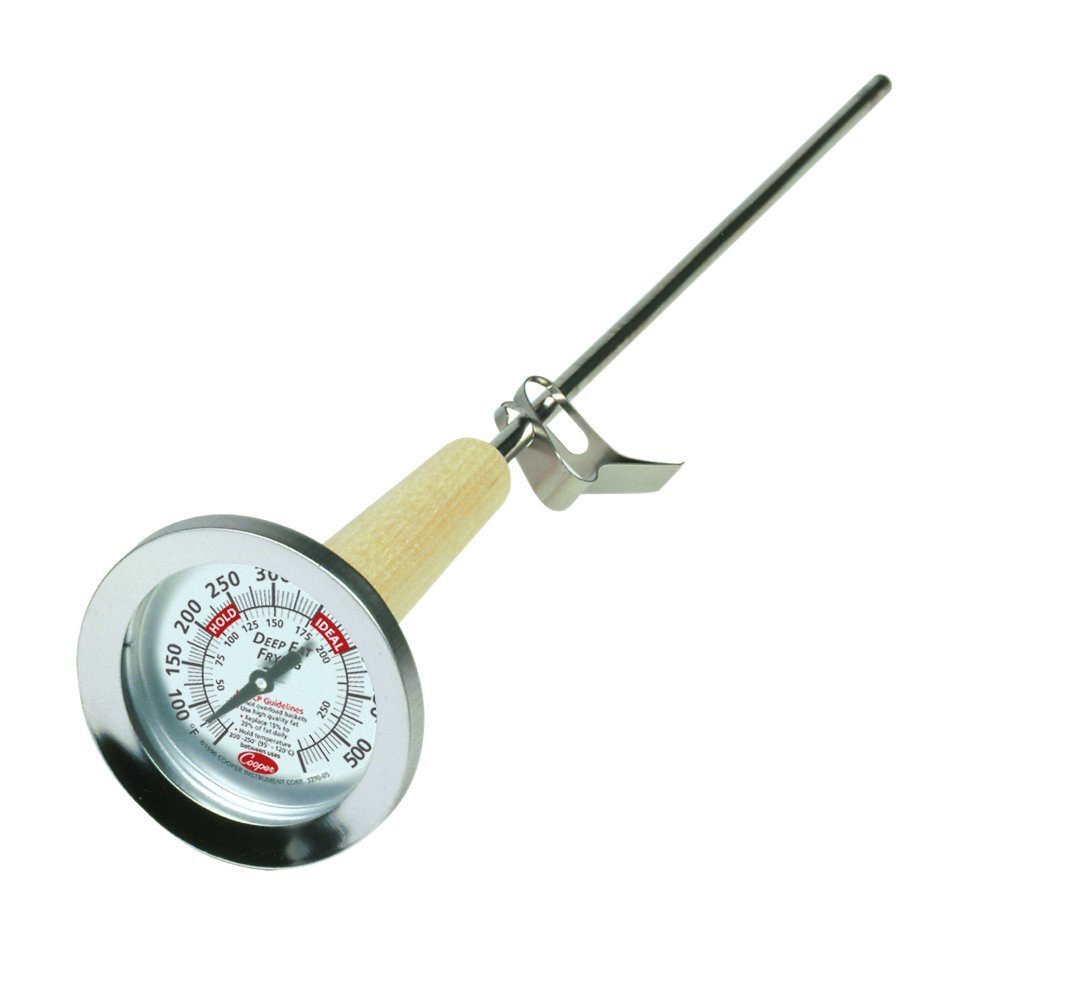 Cooper-Atkins 3270-05-5 Stainless Steel Bi-Metals Kettle Deep-Fry Thermometer, 50 to 550 degrees F Temperature Range