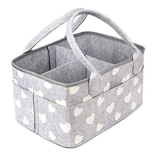 BOENFU Baby Diaper Caddy Organizer Nursery Storage Nappy Caddy Toys Tote Newborn Shower Gift Basket Portable Car Travel…