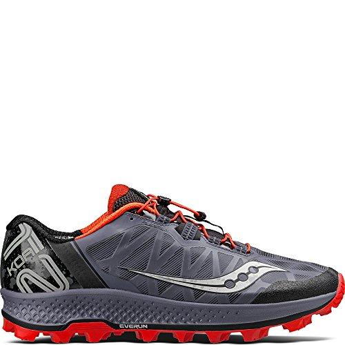 Saucony Men's KOA ST Sneaker, Grey/Black/viz, 9 M US