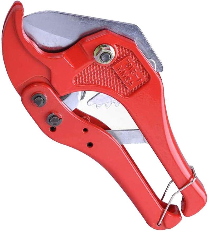 Cortador de tuber/ías de pl/ástico de PVC para fontaner/ía apta para electricistas y carpinter/ía herramienta de fontaner/ía de hasta 42 mm para cortar mangueras de pl/ástico PPR y tuber/ías sanitarias