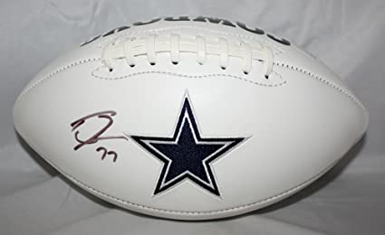 785bf9deb Tyron Smith Signed Football - Logo W - JSA Certified - Autographed Footballs