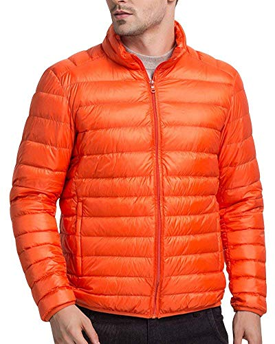 Quilted with Stand Streetwear Jacket Winter Padded Jacket Jacket Men's Coat Down Jacket Jacket Collar Outerwear Orange Jacket PqxWzIHn