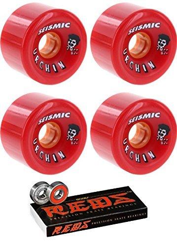 結婚混乱させる定義する70 mm seismicスケートシステムUrchin Elixir Longboard Skateboard Wheels with Bones Bearings – 8 mm Bones Reds Precisionスケート定格スケートボードベアリング – 2アイテムのバンドル