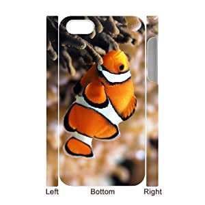 3D Bumper Plastic Case Of Clown Fish customized case For Iphone 4/4s
