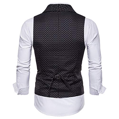 Printemps Noir Fashion Costume xxl Double Automne Lh Imprimé Boutonnage Et Slim Veste Homme Gilet da1n7H