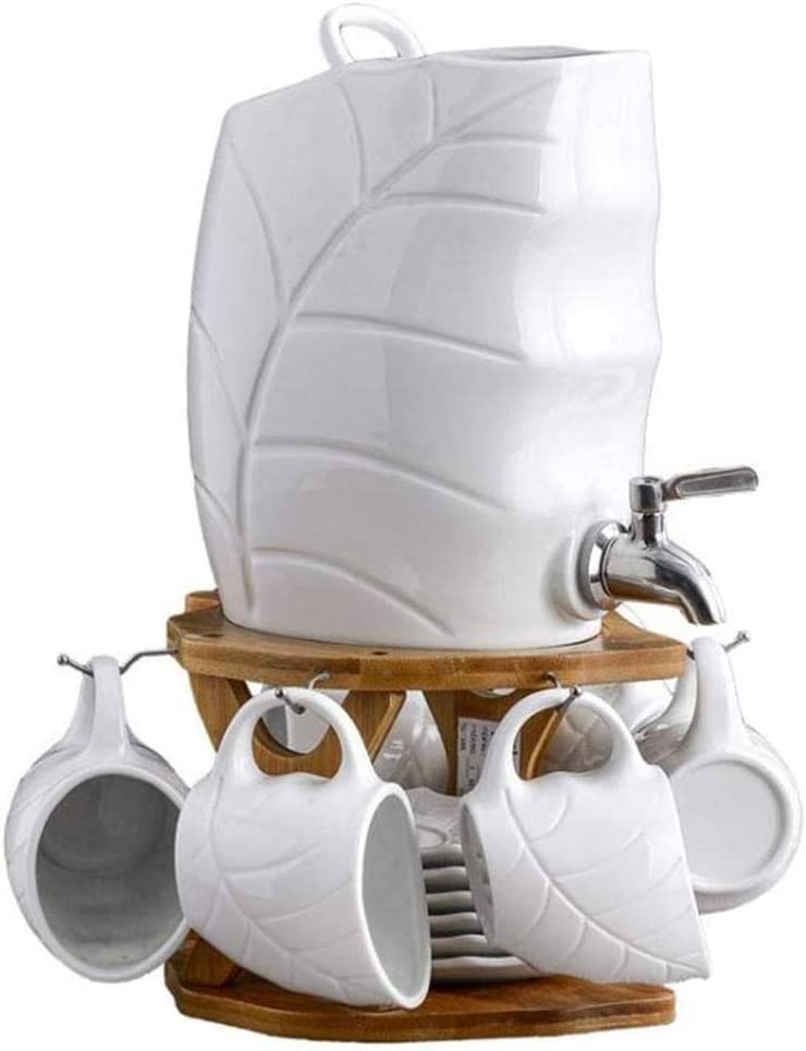 ZHIRCEKE El Conjunto de Taza de cerámica cerámica fría de cerámica Puede Cerveza de Cerveza en Altas temperaturas de Alta Capacidad doméstica