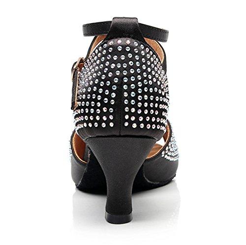 de Minitoo Salon Danse MinishionUS Black Femme QJ7151 6cm Heel xxHFC