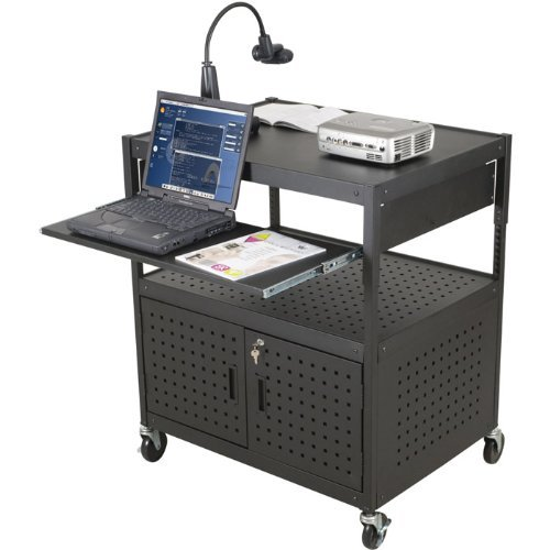 (Balt Dual Adjustable Laptop Cart, Black)