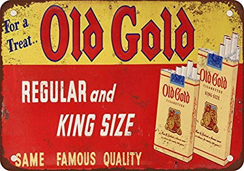 - FDerks Old Gold Cigarettes Vintage Look Reproduction Metal Tin Sign 8X12 Inches
