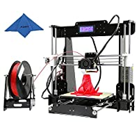 KKmoon Anet A8 High Precision Desktop 3D Printer Kits Reprap i3 DIY Self Assembly with 8GB SD Card Aibecy Cleaning Cloth by KKmoon