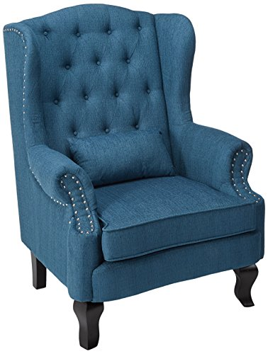247SHOPATHOME IDF-AC6271TL-CH Living-Room-Chairs, Dark Teal