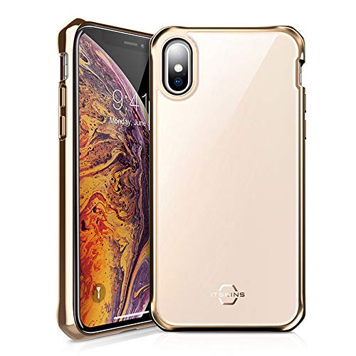 ITSKINS Hybrid Glass Iridium Case for Apple iPhone Xs/X Gold