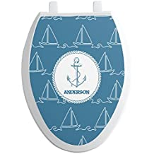 Rope Sail Boats Toilet Seat Decal - Elongated (Personalized)