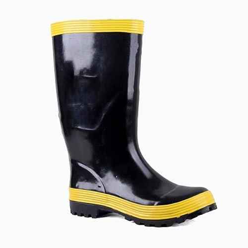4b5e1be4ded ZPEDY Men Rubber Puncture-Proof Fire-Resistant Rain Boots Waterproof ...