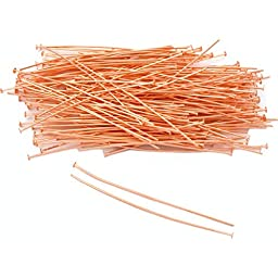 200 Copper Head Pins Jewelry Beading Findings 22 Gauge 2\