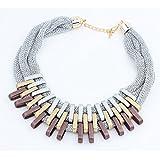 291# - 3 New Arrival Women Jewelry Pendant Choker Chunky Statement Chain Bib Necklace