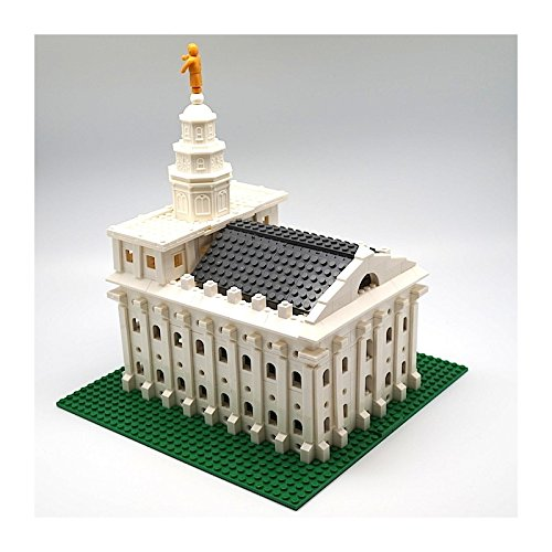 Image of Brick 'Em Young Small LDS Nauvoo Temple Toy Brick Building Set - 735 Pieces