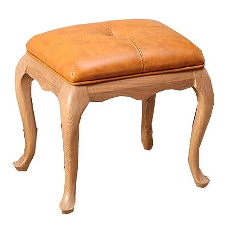 Amazon.com: Taburete de piano de madera maciza, estilo ...