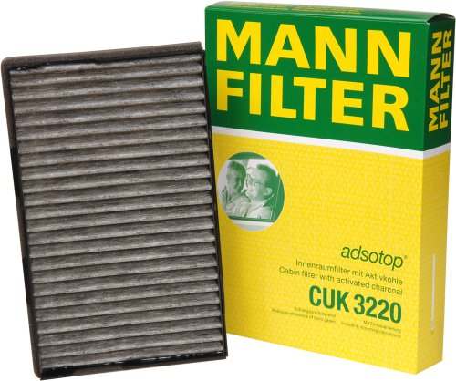 mann-filter-cuk-3220-cabin-filter-with-activated-charcoal-for-select-saab-models