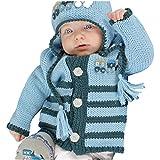 Huggalugs Boys Blue Choo Choo Train Cardigan Sweater (12-18 m)