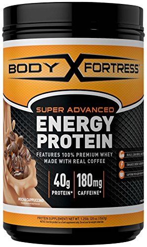 Body Fortress Energy Protein - Mocha Cappuccino, 1.25 Pounds by Body Fortress