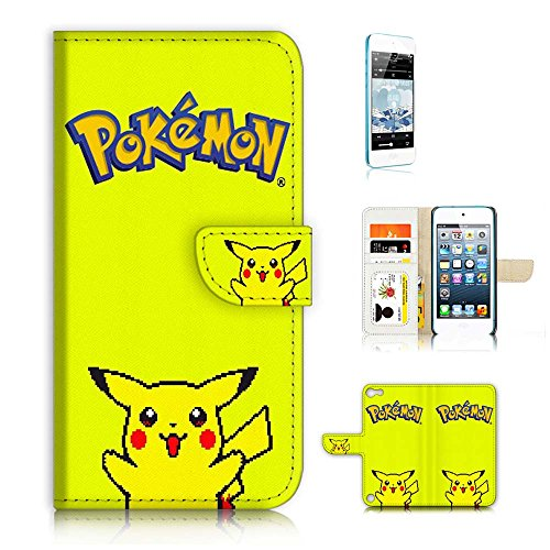 iPod Touch 5 iTouch 5 Flip Wallet Case Cover & Screen Protector Bundle! A6153 Pokemon Pikachu - Ipod Touch Pokemon Case