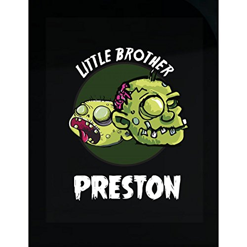Halloween Costume Preston Little Brother Funny Boys Personalized Gift - Sticker -