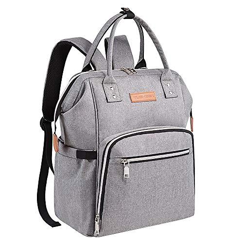 SAYGOGO Multi-Function Large-Capacity Diaper Bag, Gray, Unisex