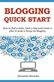 BLOGGING  QUICK START: How to find a niche, start a blog and create a plan to make a living via blogging